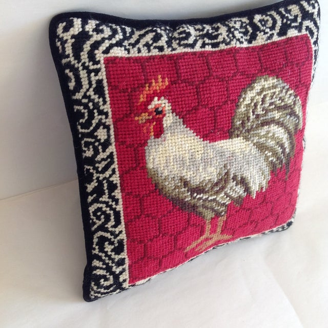 Petite Embroidered Rooster Accent Pillow - Image 3 of 7