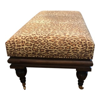 Modern Grafton Leopard Bench For Sale