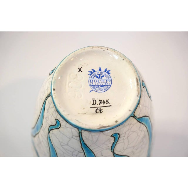 Early 20th Century Charles Catteau Vase for Boch Freres La Louviere For Sale - Image 5 of 5