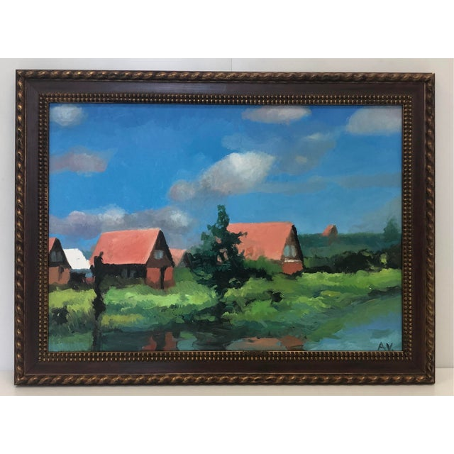 """Traditional """"Contrast of Colors"""" Painting by Armenian Artist For Sale - Image 3 of 3"""