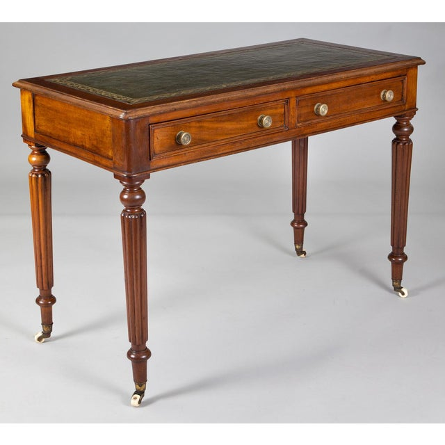 Early 19th Century Late Regency Mahogany Small Writing Table, Circa 1830 For Sale - Image 5 of 11