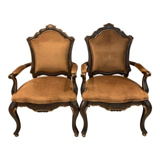 French Style Bergere Chairs - a Pair For Sale