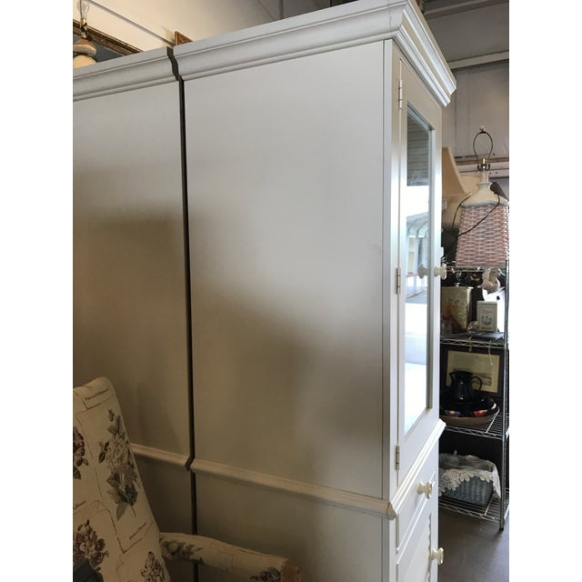 Wood Broyhill Furniture Beach Cottage Style Cabinet For Sale - Image 7 of 11