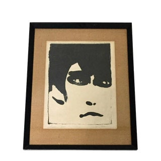 Abstract Portrait Limited Edition Bold Black and White Print For Sale