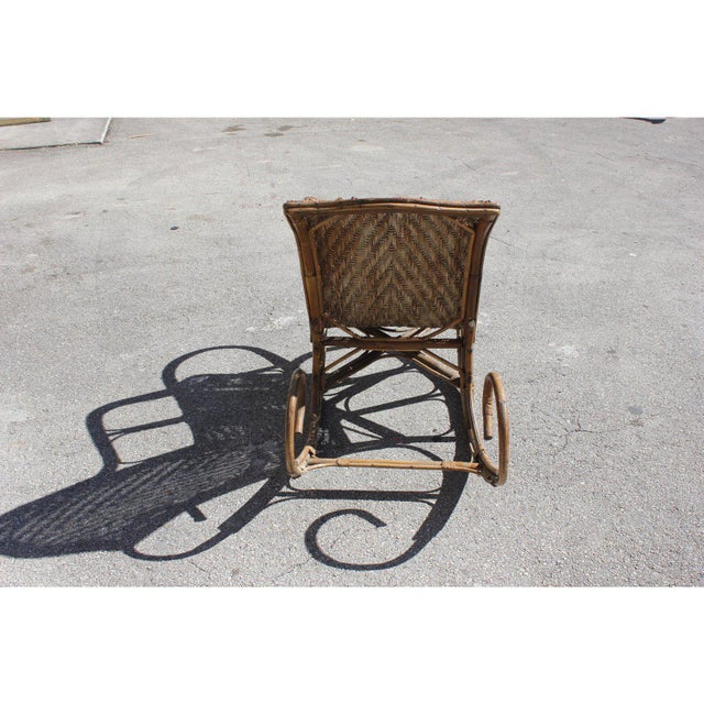 Art Deco C. 1940s French Art Deco Wood Rocking Chair For Sale - Image 3 of 13