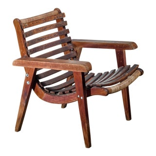 Michael Van Beuren Slat Chair for Domus, Mexico, 1930s/40s For Sale