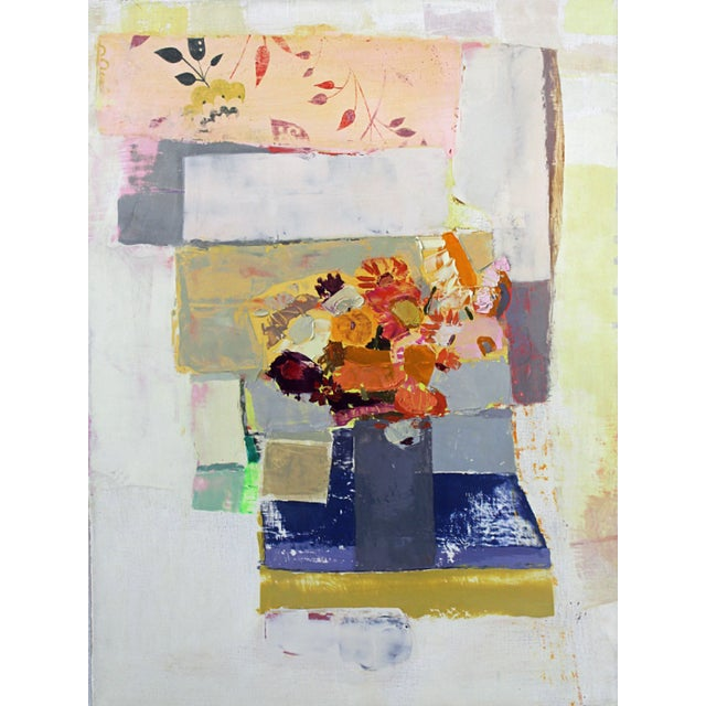 """Abstract Sydney Licht """"Still Life with Flowers"""" For Sale - Image 3 of 3"""