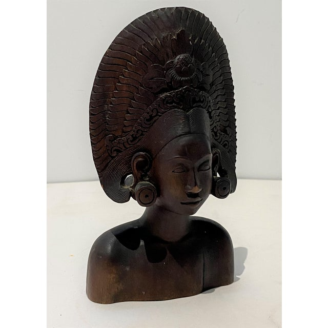 Asian Antique Vintage Balinese Carving For Sale - Image 3 of 13