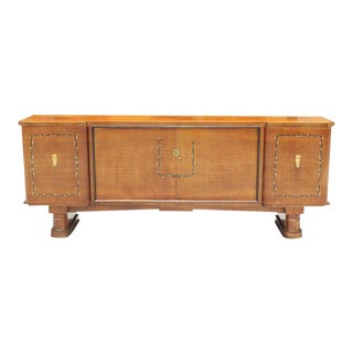Fine French Art Deco Jules Leleu Style Rosewood M-O-P Sideboard / Buffet 1940s For Sale