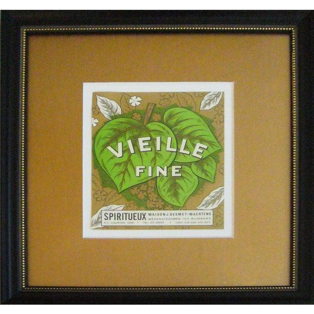 Framed French Vintage Wine Label - Image 3 of 3