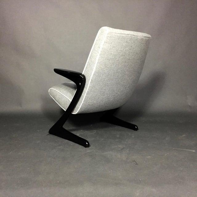 "Bengt Ruda ""Z"" Ebonized Lounge Chair, Sweden 1950s For Sale - Image 4 of 8"