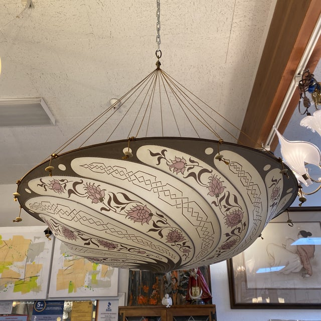 Fortuny Custom Scudo Saraceno Carduus Pendant in Light Pink For Sale - Image 10 of 10