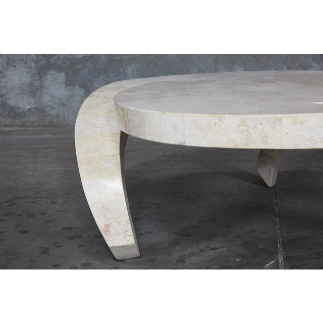 """1990s Post-Modern Tessellated Cantor Stone """"Hurricane"""" Coffee Table For Sale In Los Angeles - Image 6 of 10"""