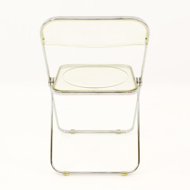 Lucite Vintage Mid Century Anonima Castelli Italian Lucite Folding Chairs- Set of 6 For Sale - Image 7 of 11