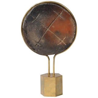 African Carved Wood Lip Disc For Sale