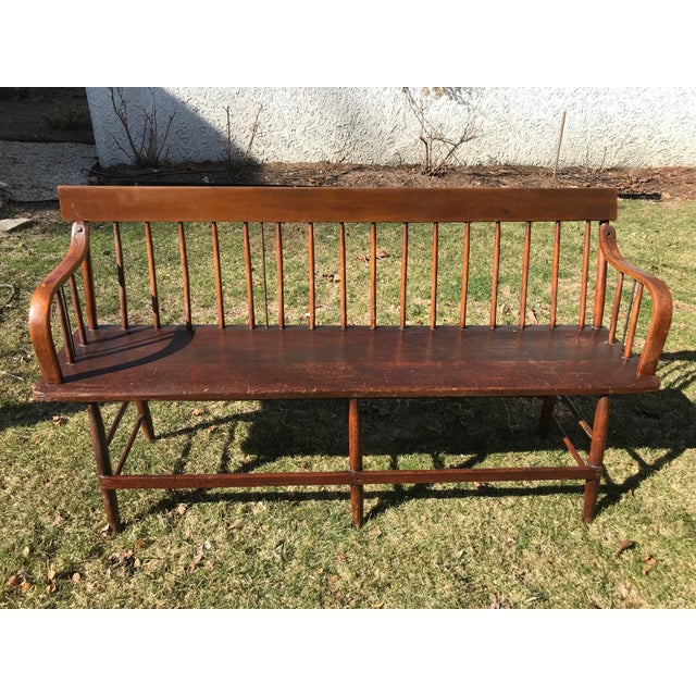 C. 1880s Vintage Church Pew Bench For Sale - Image 4 of 4