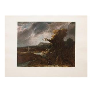 Rembrandt, Landscape With an Obelisk Vintage Lithograph For Sale