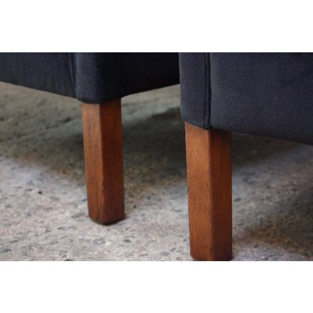 Pair of Danish Mogens Hansen Velvet Lounge Chairs - Image 9 of 10