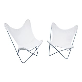 Mid-Century Modern Butterfly Chair Frames and Covers - a Pair For Sale