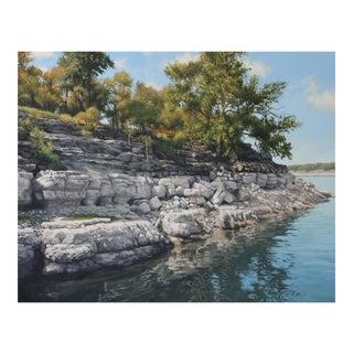 "Garrett Middaugh ""Lake Travis Promontory"" Oil Painting For Sale"