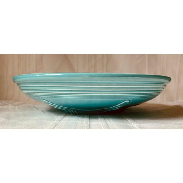 Boho Chic 1990s Vintage Fiesta Ware Blue Teal Serving Bowl For Sale - Image 3 of 7