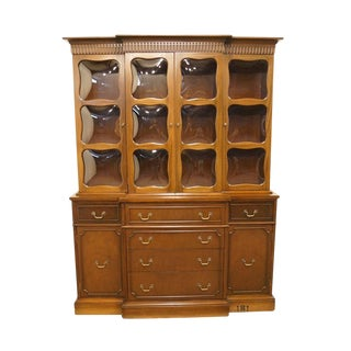 Duncan Phyfe Mahogany and Bubble Glass Display China Top Secretary For Sale