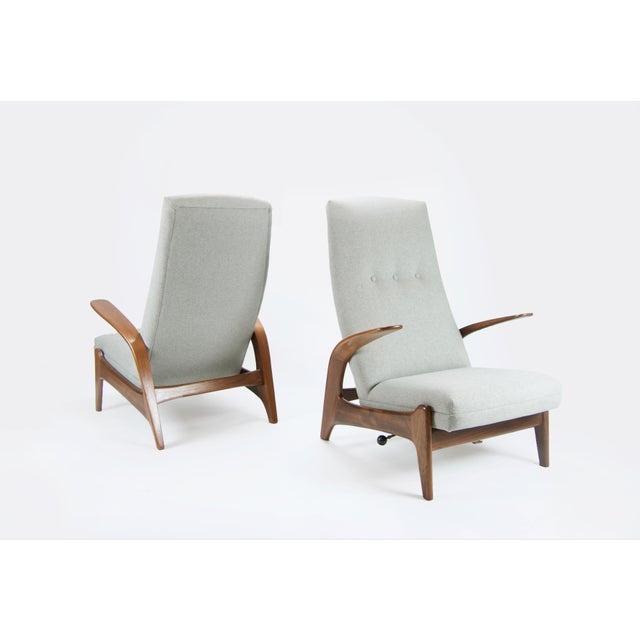"""Adolf Relling and Rolf Rastad """"Rock N Rest"""" Armchairs - a Pair For Sale - Image 9 of 9"""