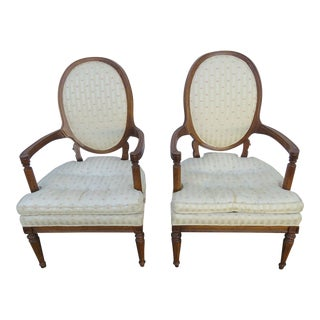 French Distressed Side Living Bed Room Den Chairs- A Pair For Sale