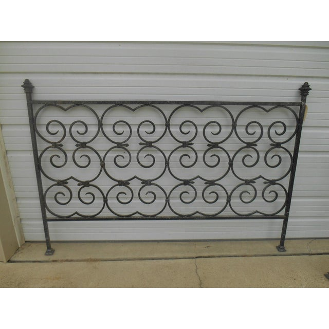 Custom Built Wrought Iron King Size Bed - Image 2 of 5