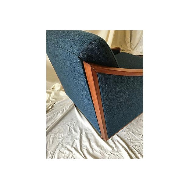 Blue Mid-Century Lounge Chair - Image 6 of 8