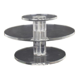 Mid-Century Lucite Rotating Cake Stand