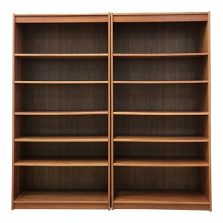 Mid-Century Danish Modern Teak Bookcases - a Pair For Sale