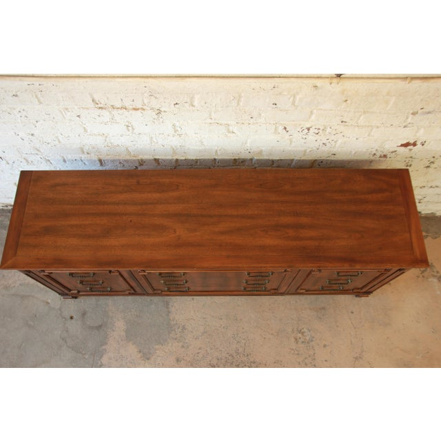 John Widdicomb Vintage Walnut 9-Drawer Dresser - Image 5 of 9