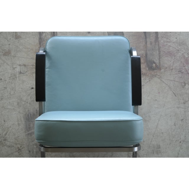 Retro Mid Century Modern Art Deco Chair For Sale In New York - Image 6 of 8