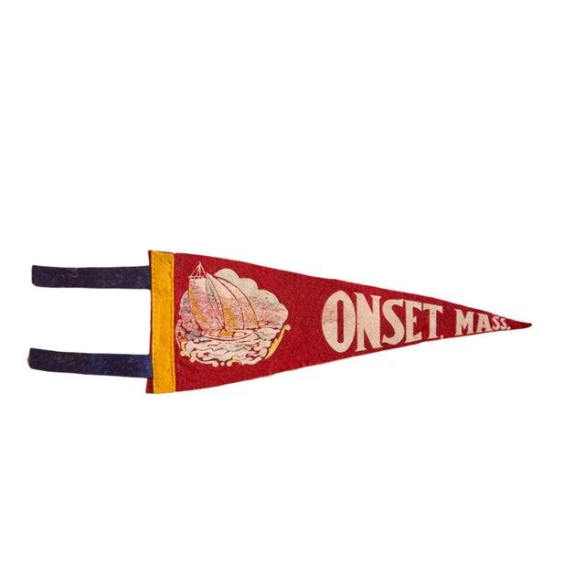Onset Mass. Felt Flag For Sale - Image 4 of 4
