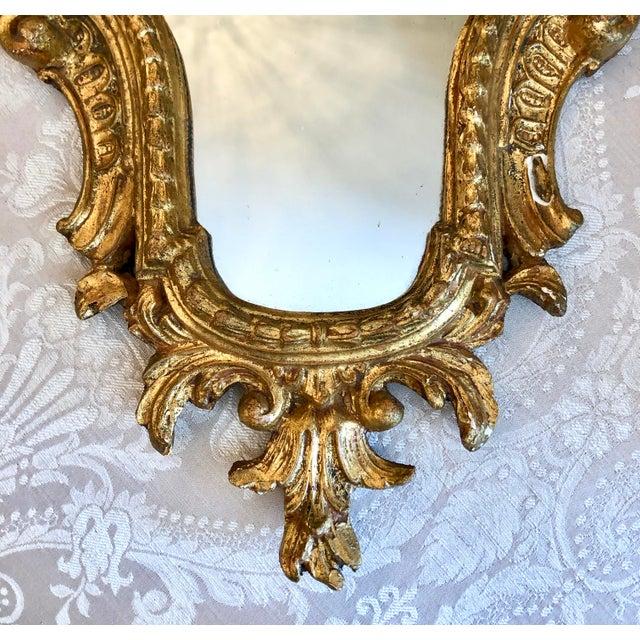 Italian Cornucopia Gilt Wood Mirror, C. 1890-1930 For Sale - Image 4 of 13