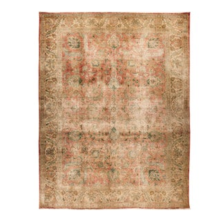 One-Of-A-Kind Bohemian Hand-Knotted Area Rug, Mocha, 9' 10 X 13 For Sale