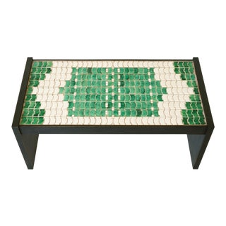 Jacques Lenoble & Jacques Adnet Ceramic Table, C. 1938 For Sale