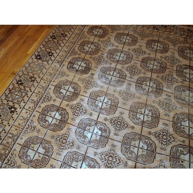 Brown 1900s Handmade Antique Uzbek Khotan Rug 6.2' X 12.10' For Sale - Image 8 of 10