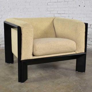 Modern Black & White Cube Club Lounge Chair Metropolitan Furniture Co. San Francisco Preview