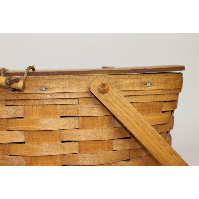 Vintage Longeberger Picnic Basket - Image 8 of 10