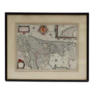 William Blaeu Map of Hollandia Comitatus For Sale