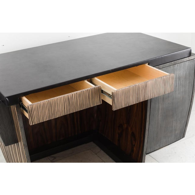 Blackened Steel and Layered Bronze Desk, Usa, 2019 For Sale - Image 10 of 13