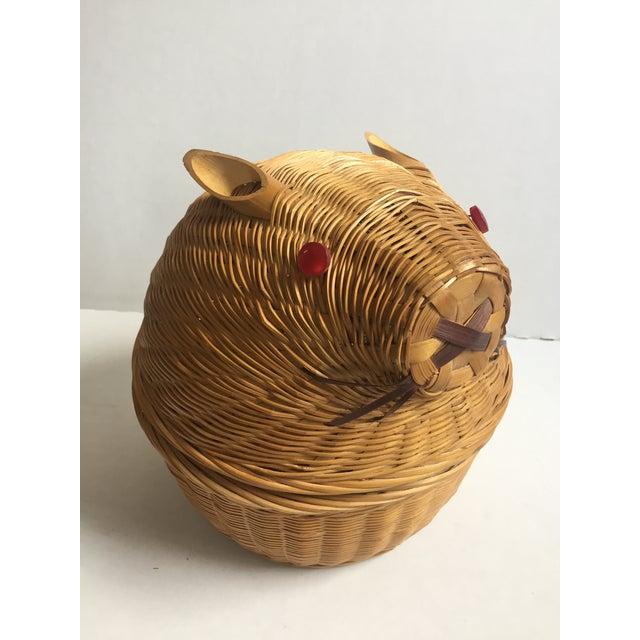Vintage Wicker Rabbit Basket - Image 2 of 6