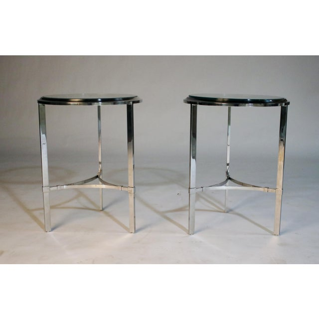 Maison Jansen Style Steel Side Tables For Sale - Image 9 of 12