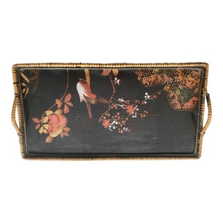 19th Century Japanese Ebonized and Lacquered Tray For Sale