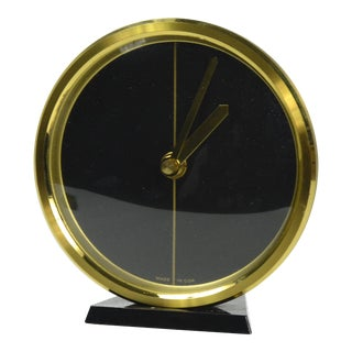 1970s Modernist Fireplace Clock, Weimar Germany For Sale