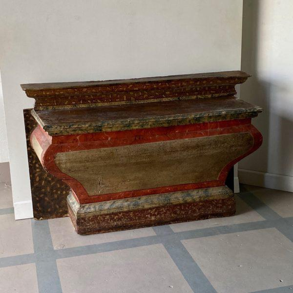 Antique Italian Faux Marble Specimen Altar For Sale - Image 4 of 6