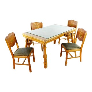 Shabby Chic Meier & Pohlmann Wooden Dining Set - 5 Pieces