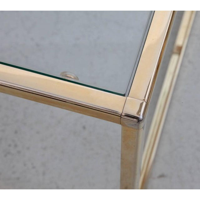 Mid-Century Modern Huge Coffee Table in Brass with Four Nesting Tables by Maison Charles For Sale - Image 3 of 6